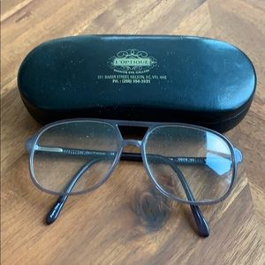 Grey lucite fashion glasses - non prescription